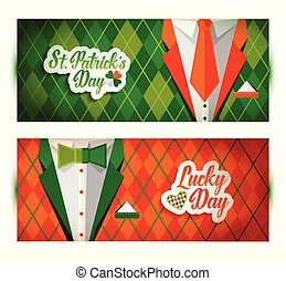 Saint Patrick s day background with suit