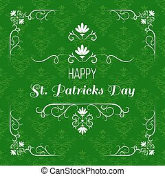 Saint Patrick s day greeting card design