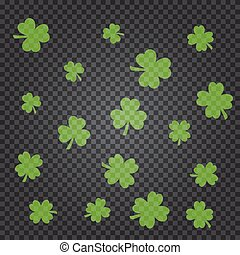 Saint Patrick s day pattern with green clover leaves