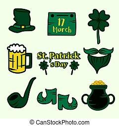 Saint Patrick s Day set. Vector Illustration