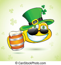 Saint Patrick Smiley