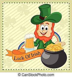 Saint Patrick wishing Luck of Irish