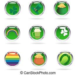 Saint Patricks buttons