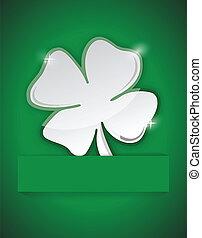 saint Patricks clover illustration design