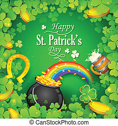 Saint Patricks Day Background - illustration of Saint...