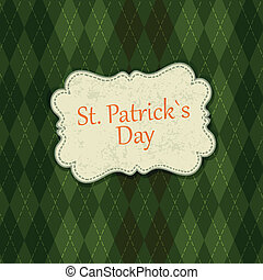 Saint Patrick's Day Card Design Template. Vector, EPS10