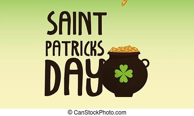 Saint patricks day card HD animation - Saint patricks day...