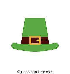 Saint Patrick's Day design - irish hat icon over white...