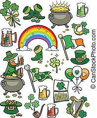 Saint Patricks Day Elements - Set of 20 design elements on ...
