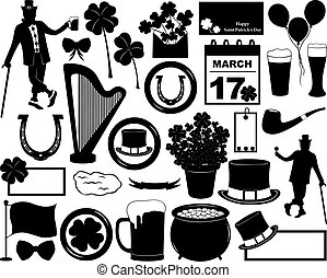 Saint Patrick's Day elements isolated on white