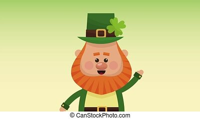 Saint patricks day elf cartoon HD animation - Cute elf...