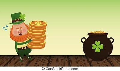 Saint patricks day elf cartoon HD animation - Elf loading...