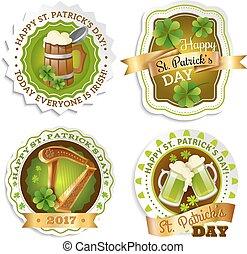 Saint Patricks Day Emblems Set