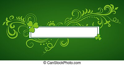 Saint Patrick's Day frame background