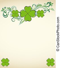 Saint Patrick's Day green clover background