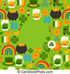 Saint Patrick's Day greeting card.