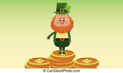 Saint patricks day HD animation - Cute elf greeting over...