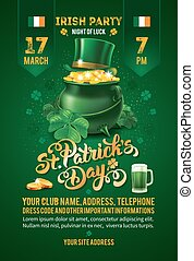 Saint Patricks Day Invitation Card Design