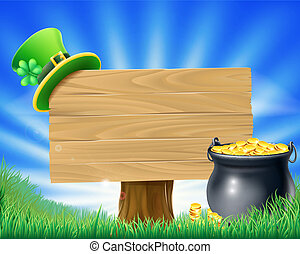 Saint Patricks Day Leprechaun Sign - A St Patrick's Day...
