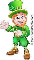 Saint Patricks Day Leprechaun - Cartoon Leprechaun St...