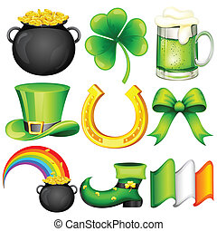 Saint Patrick's Day Object - easy to edit vector ...