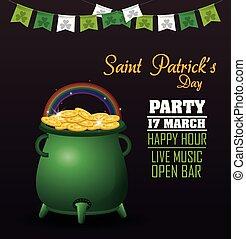 SAint patricks day party icon vector illustration graphic...