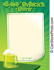 Saint Patrick's Day Party Poster Template. Vector