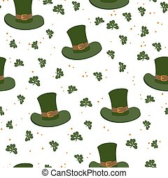 Saint Patrick's Day seamless pattern. Celebration design for March, 17th. Beer festival background