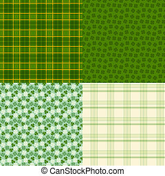 Saint Patrick's Day seamless patterns.