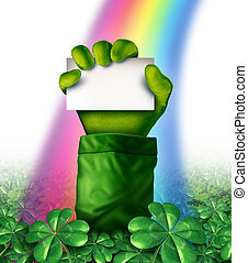 Saint Patricks Day Sign - Saint Patricks day concept with a ...