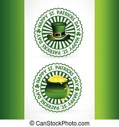 saint patricks day stamp label