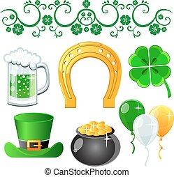 Saint Patrick's Day symbols vector
