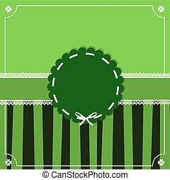 Saint Patrick's Day vintage template with round wavy stamp