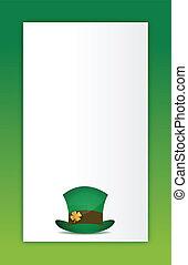 saint patricks hat background