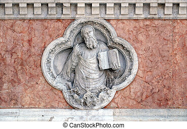 Saint Paul by Giovanni Ferabech relief on facade of the San ...