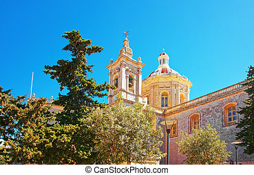 Saint Paul Cathedral of Mdina in Malta