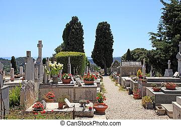 old cemetery in Saint Paul de Vence, Provence, France.