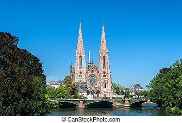 saint-paul, eglise, estrasburgo, francia