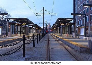 Saint Paul Light Rail Station and Capitol