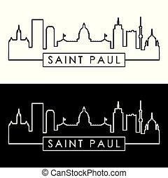 Saint Paul skyline. Linear style.