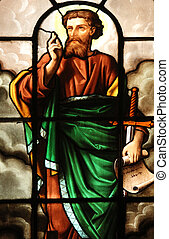 Saint Paul, stained glass