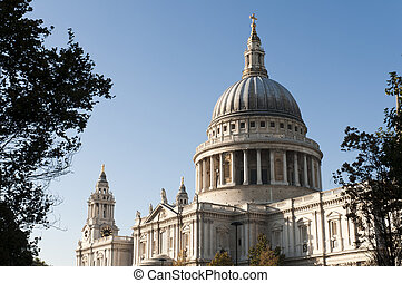 Saint Pauls Cathedral, London, UK - Cropped shot of Saint...