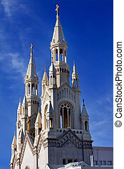 Saint Peter and Paul Catholic Church Steeples San Francisco California