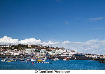 Saint Peter Port, Guernsey. - Saint Peter Port in Guernsey.