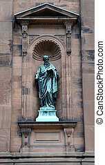 Saint Peter Statue outside the historic Saint Peter and Paul...