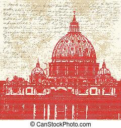 Saint Peters Background - Saint Peters, Vatican City, Rome,...