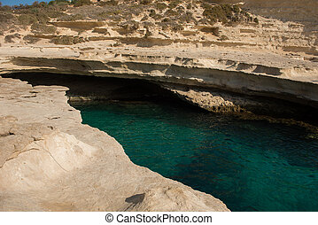 Rocky beach in Malta