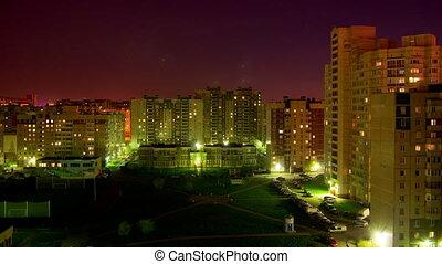 Saint Petersburg at night time lapse