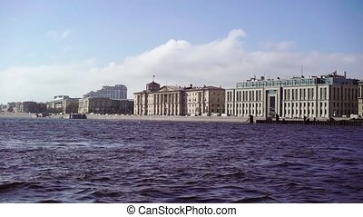 Saint-Petersburg city embankment in a center