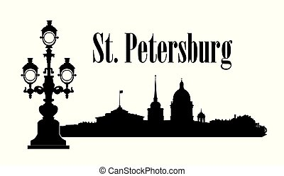 Saint-Petersburg city, Russia. St. Isaac's cathedral skyline with Admiralty building